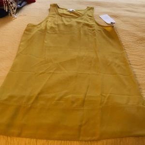 Mustard yellow racer back dress